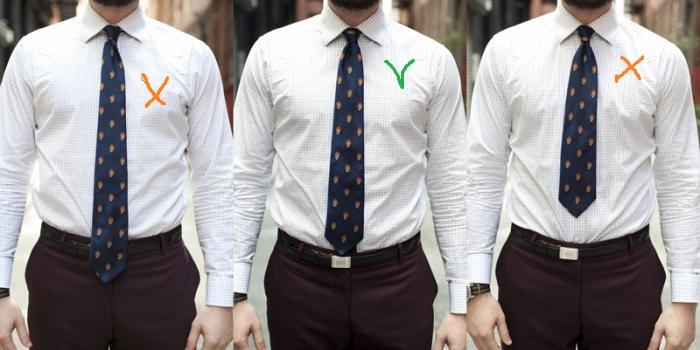 идеальная длинна галстука