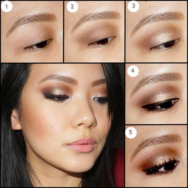 Макияж для узких (азиатских) глаз с нависшими веками