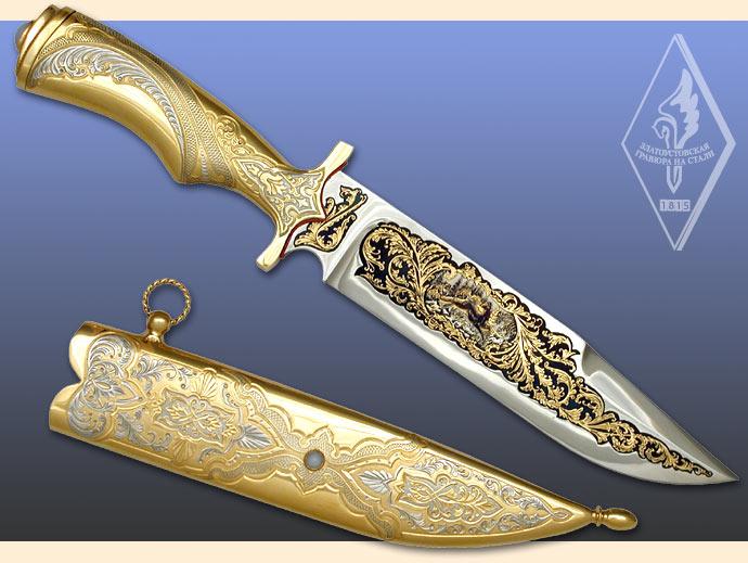 Оружие, украшенное красивым орнаментом