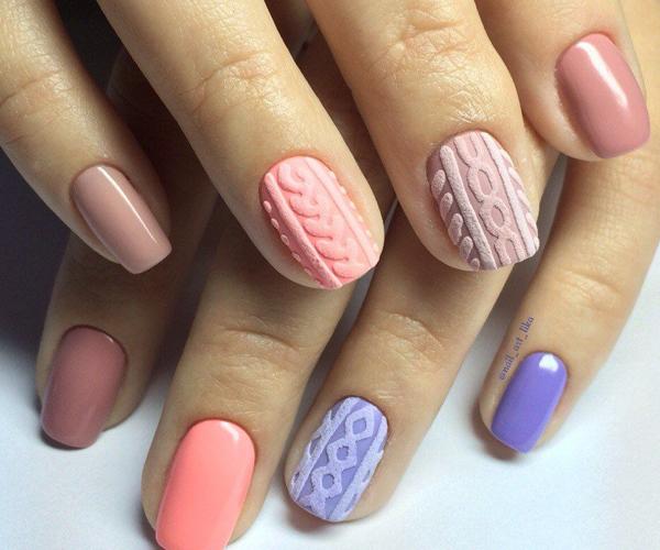 Вязаные узоры на ногтях фото 1