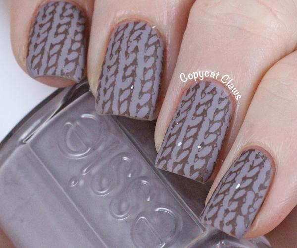 Вязаные узоры на ногтях фото 2
