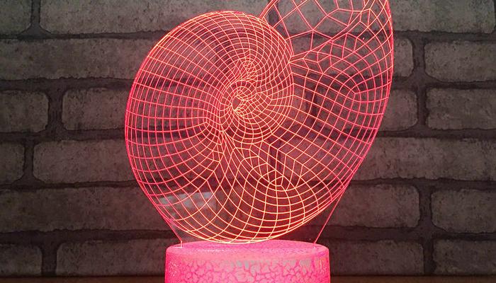 Hi-tech 3D светильник