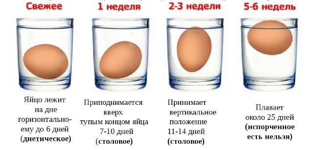 4 способа проверки свежести яиц - просто и понятно