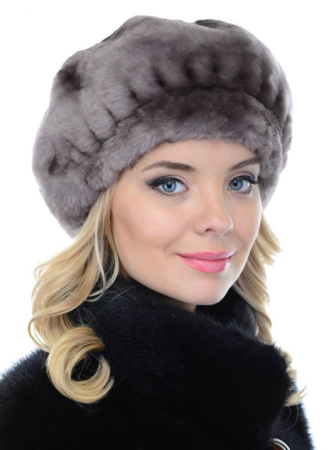 Комбинированная шапка фото 3