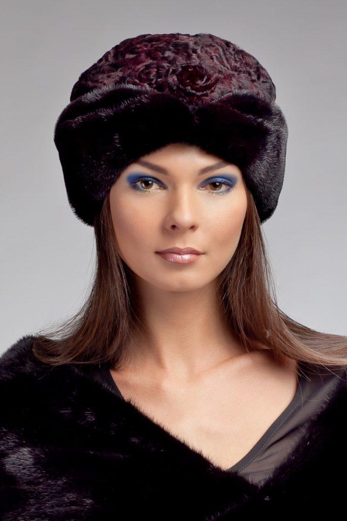 Комбинированная шапка фото