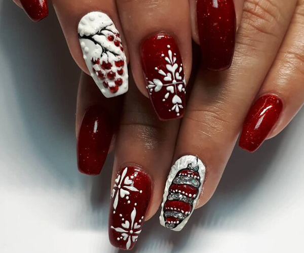 Зимний маникюр 2020-2021: модные дизайны, красивые идеи, фото Самостоятельное выполнение зимнего дизайна ногтей