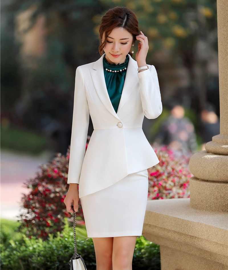 Летний вариант, состоящий из пиджака и юбки, вариант 1