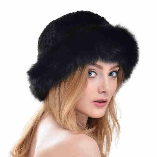 Меховая шляпа с длинной шерстью фото 1