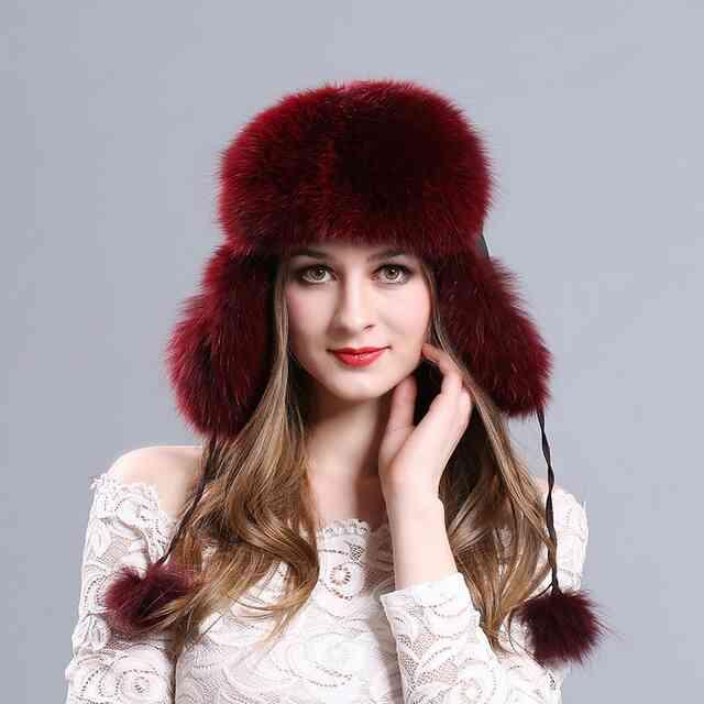 Меховая шляпа с длинной шерстью фото